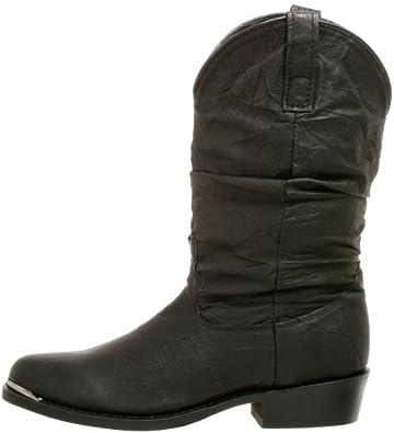 Men Amsterdam Black Pigskin R Toe Western Boot Dingo DI15240