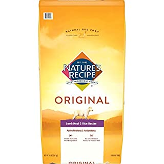 Nature's Recipe Adult Dry Dog Food, Lamb Meal & Rice Recipe, 30 Pounds