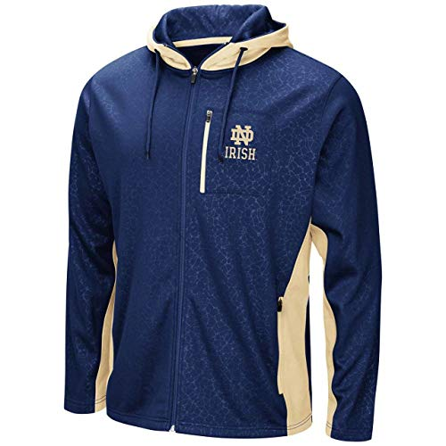 Notre Dame Fighting Irish Adult NCAA Luge Full Zip Hooded Sweatshirt - Team Color, - Notre Today Dame Game
