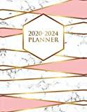 2020-2024 Planner: Abstract Gold Lined 5 Year