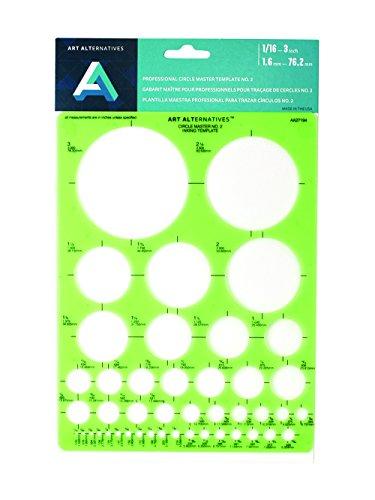 Art Alternatives Professional Circle Master 2 Template,Green by Art Alternatives