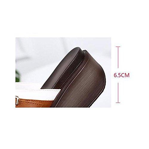 coréenne à l'été Chaussures Porter Plat Sandales Sauvage étudiant Marée Version Mode Blanc de Fond de de Pantoufles BFMEI épaisse qFwAPFE