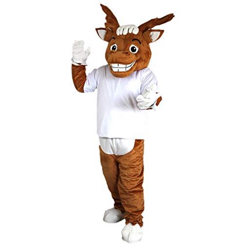 Langteng Brown Sport elk Deer Cartoon Mascot Costume Real Picture 15-20days delivery Brand ()