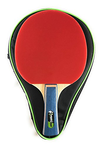MightySpin Lightning - Increased Performance Ping Pong Paddle | Taking Backhand Forehand Loops to Next Level | Table Tennis Racket for Superb Loops Spins | 7-Ply Limba Force Blade | Advanced - Pro Bat (Paddle Plus Performance)