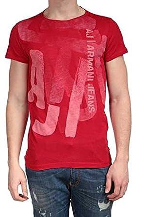 ef785deb3314 AJ - Giorgio Armani Jeans Herren Shirt T-Shirt , Farbe  Rot  Amazon ...