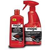 Magic Glass Cooktop Cream Cleaner & Polish - 16 oz. and Daily Cleaner - 14 Ounce - Cleans and Protects Glass and Ceramic Smooth Top Ranges with its Gentle Formula