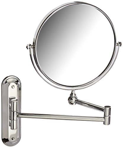 Better Living Products 13542 Valet Wall Mount Magnified Mirror, Chrome, 8-Inch (Round Table Extending To Oval)