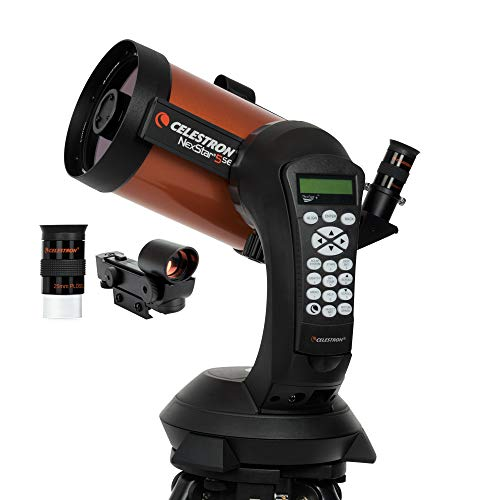 Celestron NexStar 5 SE – Telescopio computarizado de 5″, Negro y Naranja