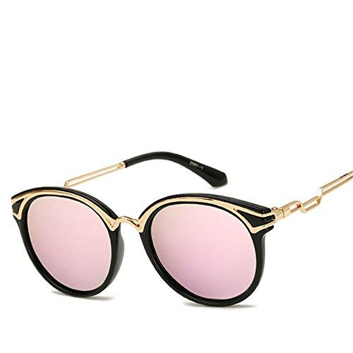 Chahua Haut brillant élégant rétro lunettes de soleil, lunettes de soleil brillant branché métal brillant lunettes de soleil Lunettes