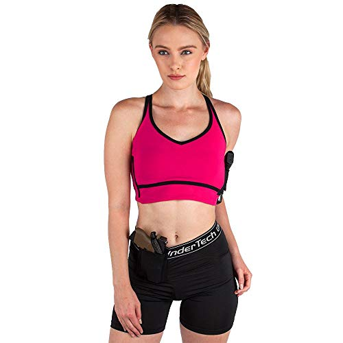 UnderTech Undercover Concealed Carry Convertible Sports Bra (Medium) Pink
