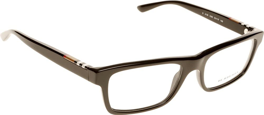 54ce5d871a42 BURBERRY Eyeglasses BE 2138 3396 Top Transparent Black 53MM: Amazon.co.uk:  Clothing