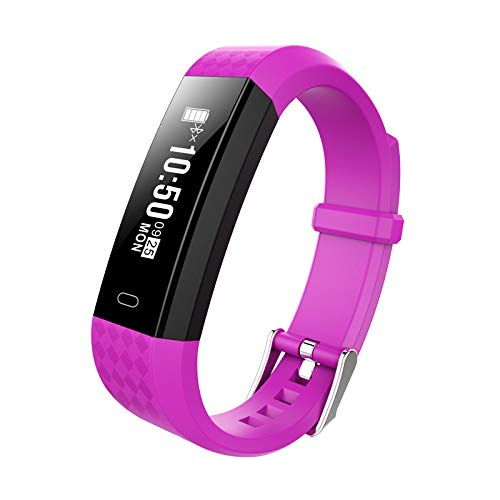 Glumes Smart-watch, Bluetooth Heart Blood Pressure Test Heart Rate Monitor Sports Wrist Waterproof Kids Health Monitor Exercise Activity Tracker Watch Pedometer Calorie Call SMS Camera Music (Purple)
