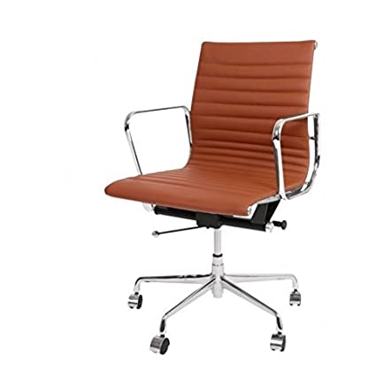 Eames ribbed chair tan office Daksh Image Unavailable Amazoncom Amazoncom Charles Eames Style Aluminium Management Low Back Ribbed
