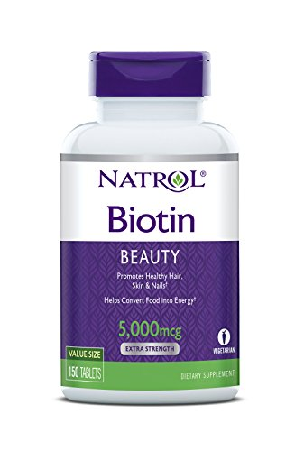Natrol Biotin Tablets 5,000mcg, 150 Count