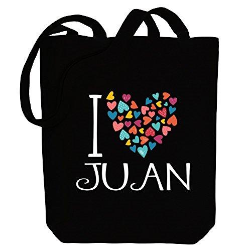 Bolsa Juan Masculinos Nombres Colores Amo De Lona Idakoos Corazones De OFw6T