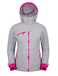 Mountain Warehouse Isola Women's Extreme Ski Jacket - Waterproof, Taped Seams, Breathable ISODRY Fabric with Recco Reflectors & Detachable Snow Skirt