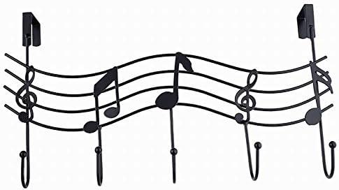 Alivier - Perchero de Hierro Forjado para Puerta de Instrumento Musical detrás del Gancho, sin Nariz, Blanco, 42CM*28CM