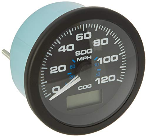 (Sierra International 781-627-120P Scratch Resistant Premier Pro Gauge 120 MPH GPS Speedometer, Black, 3