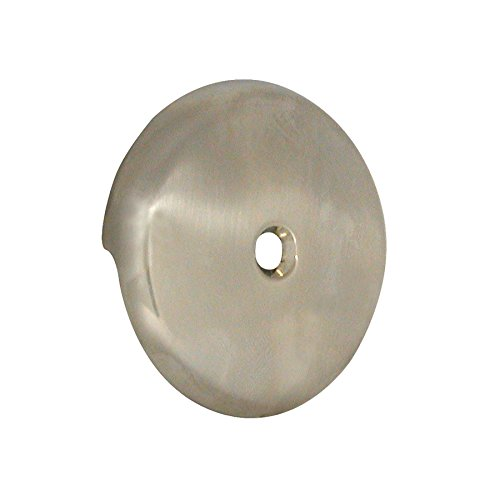 DANCO Tub Drain Overflow Plate with Single-Hose Round Style in Brushed Nickel (89235) ()