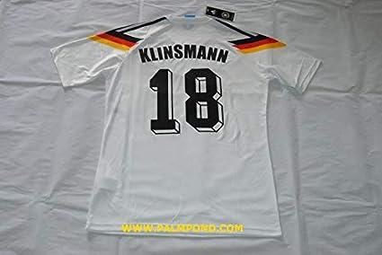 f3dec80ef Amazon.com   Retro KLINSMANN 18 Germany Home Soccer Jersey 1990 ...
