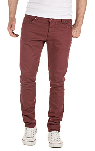 191521 Simon For Chinois Red Yazubi En filet Fit Slim Acajou Pantalon Man wqIOPXn