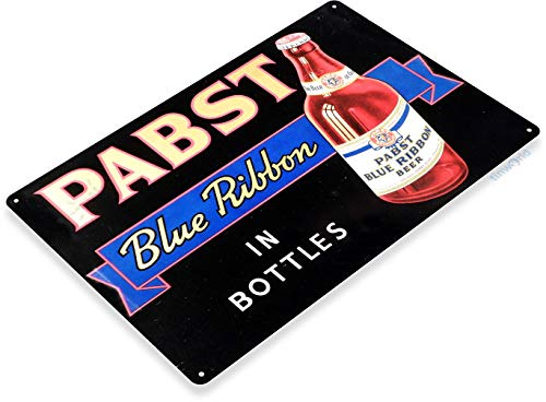 """Tinworld TIN Sign 12"""" x 18"""" Pabst Blue Ribbon Bottled for sale  Delivered anywhere in USA"""