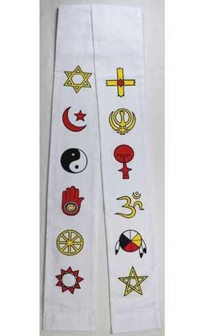 Fortune Telling Toys Interfaith Minister's Stole white Spiritual Ritual Supplies