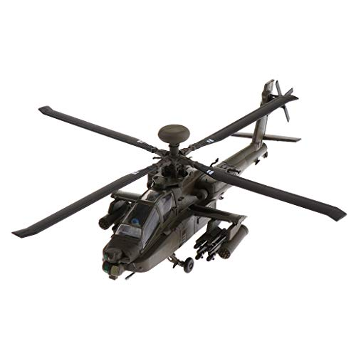 B Blesiya 1:72 Alloy American AH-64 Apache Gunships Advanced Attack Helicopter Aircraft Model - Airforce Plane Fighter Model Toy