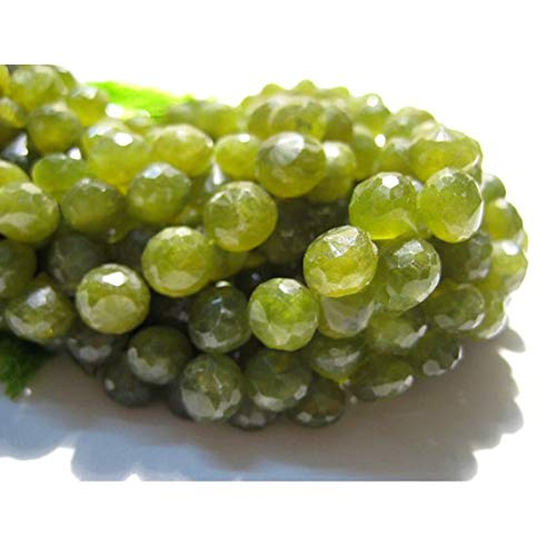 Super Quality Gemstone Beautiful Jewelry Vessonite Beads, Green Garnet Beads, Micro Faceted Onion Briolettes, 7x7mm Each, 54 Pieces Code-JP-3597   B07KNRFDVV