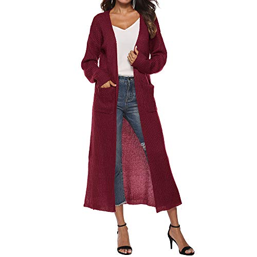 e59016b52 Vestidos para gorditas mayores. Linlink Mujeres otoño Manga Larga Abierta  Capa Informal Abrigo Blusa Kimono Chaqueta Cardigan  Amazon.