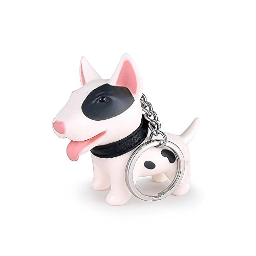 Adorable Kawaii Puppy Cute Dog Key Chain Keyfob Puppy Keyring for Girl Women Handbag Wallet Bag Car Key (White+Pink) - Puppy Dog Handbag Purse Accessory