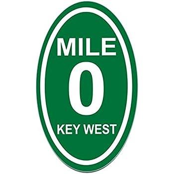 Cafepress mile marker zero key west euro oval sticker oval bumper sticker euro oval car decal