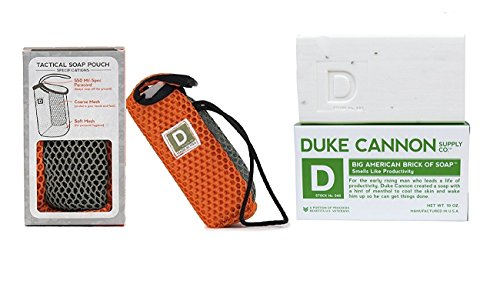 Dukes Rope - Soap On A Rope Pouch With Big American Brick of Soap Combo Pack - U.S. Military-Grade Tactical Soap Scrubber And Soap (Big American - Productivity + Scrubber)