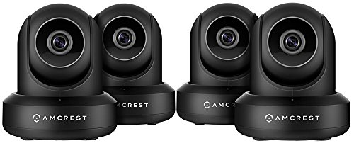 4-Pack Amcrest ProHD 1080P WiFi/Wireless IP Security Camera IP2M-841 (Black)