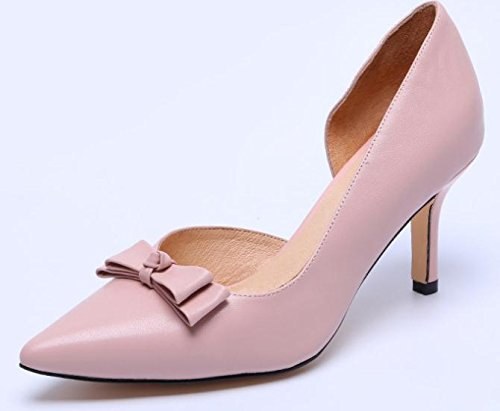 Shoes YTTY Leather Pink 35 Heel High qtdtwSYr