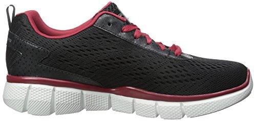 Skechers Sport Mens Equalizer 2.0 True Balance Sneaker Nero / Rosso
