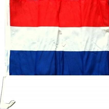 Nfp 2 X Autofahne Autoflagge 45 X 30 Holland Auto Fahne Fahnen Flagge Flaggen Em 2016 Mit Halterung Sport Freizeit
