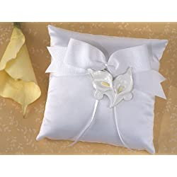 Classic Calla Lily Ring Pillow Wedding Set