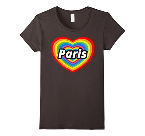 Womens I Love Paris T-Shirt, I Heart Paris, Je t'aime Paris T-shirt Medium Asphalt