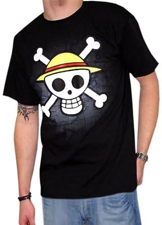 One Piece - Camiseta Skull With Map - Monkey D. Luffy Manga ...