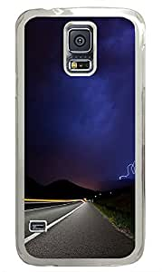 Samsung Galaxy S5 Lightening Road PC Custom Samsung Galaxy S5 Case Cover Transparent