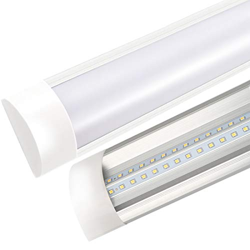 LED Batten Lights Integrated Tube T10 with Dust Cover 1500 Lumen Ceiling Lamp Bright Shop Lighting Basement Workshop Garage Cabinet Wall Tube Light Fixture Home 2ft 20W 6000K 1pc TXYDLED by TXYDLED