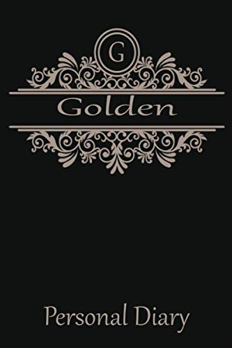 G Golden Personal Diary: Cute Initial Monogram Letter Blank Lined Paper Personalized Notebook For Writing & Note Taking Composition Journal (Tree Handmade Golden)