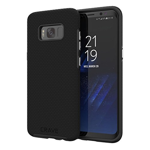 S8 Case, Crave Dual Guard Protection Series Case for Samsung Galaxy S8 - Black