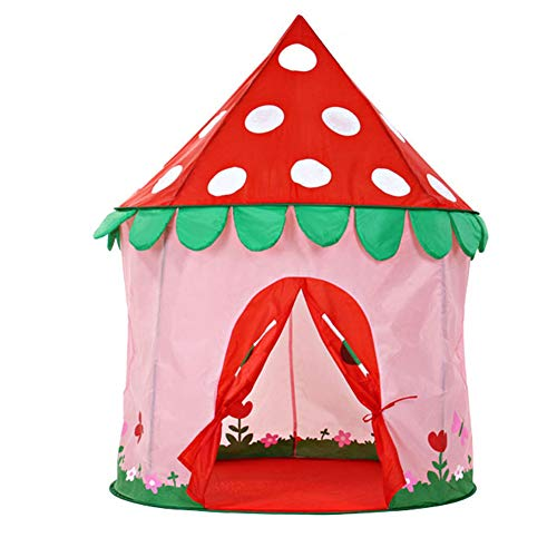 PRNGZGG Palace Castle House Children Play Tent Indoor Or Outdoor Garden Toy Tent Toy House Indian Easy to Carry and Store for Baby Independent Game Space,Pink