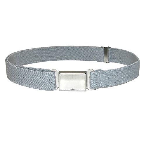 [CTM Kids' Elastic 1 Inch Adjustable Belt with Magnetic Buckle, Grey] (Grey Belt Buckle)
