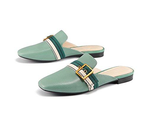 2018 A280P Scarpe Pantofole Il Piazza Scarpe Per Tempo Primavera Nuove Libero Pigro Mueller Femminile Sfregamento MSM4 Green Mezzo txfwqaRf