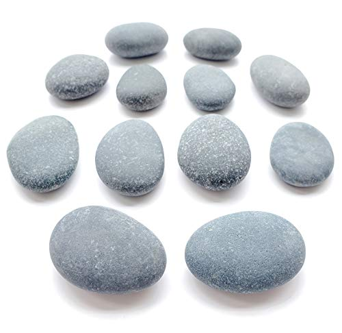 (Capcouriers Painting Rocks - Small Rocks for Painting - Smooth River Rocks - Rock Painting - Rocks are About 1.5 inches in Length)