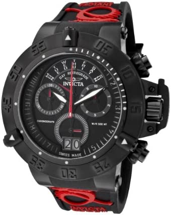 Invicta Men s 0877 Subaqua Noma III Chronograph Black Dial Black Silicone Watch