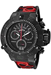 Invicta Men's 0877 Subaqua Noma III Chronograph Black Dial Black Silicone Watch